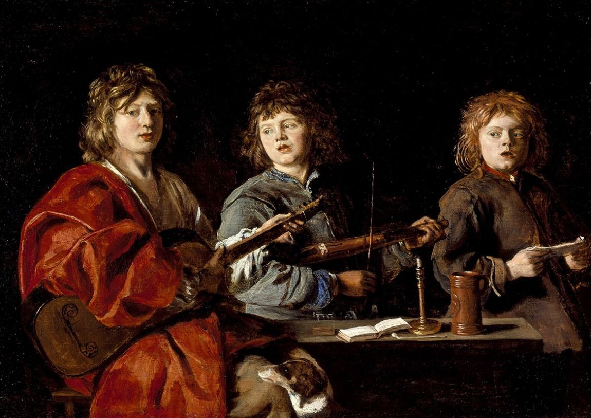 Le Nain, Antoine: The Three Young Musicians. Fine Art Print/Poster. Sizes: A4/A3/A2/A1 (001489)
